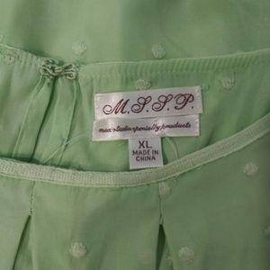 Max Studio Tops - MSSP Light Green Top / XL